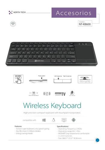 teclado inalambrico y mouse smart tv  , tv box , pc  netkey