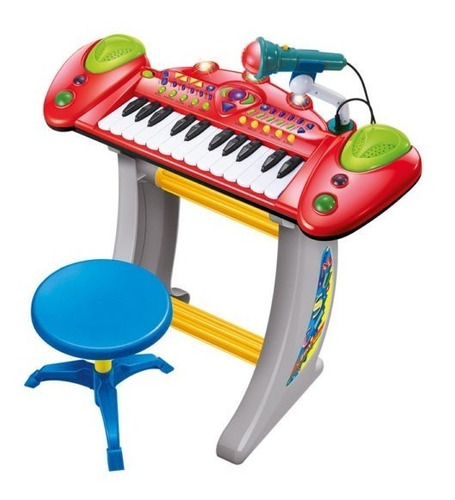 teclado infantil meninos meninas com microfone musical