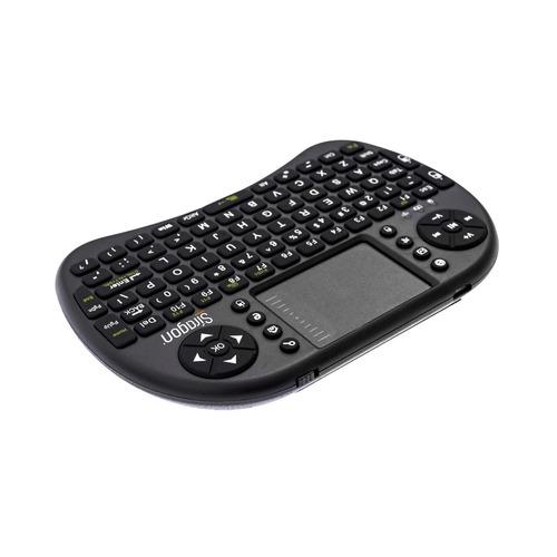 teclado inteligente siragon kb-3000 2.4ghz mouse pad