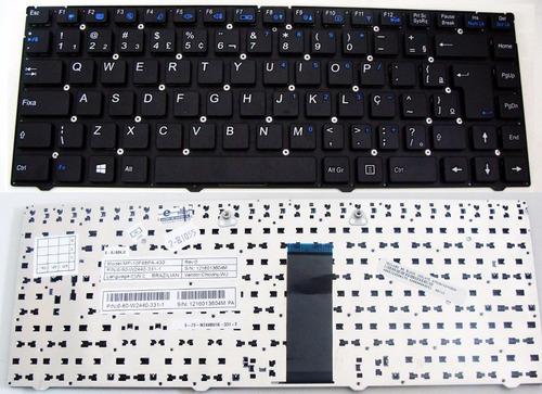 teclado itautec a7520 w7535 w7545 6-80-w2440-330-1 br com ç