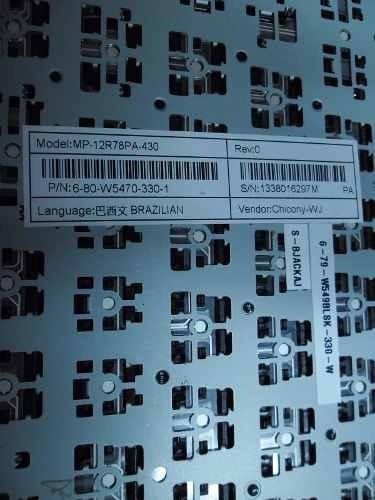 teclado itautec w7530 br com ç mp-12r78pa-430 preto c/ frame