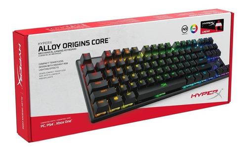 teclado kingston hyperx alloy origins core mecanico tranza
