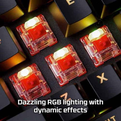 teclado kingston hyperx alloy origins mecanico rgb tranza