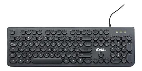 teclado kolke kem-1342 usb español negro