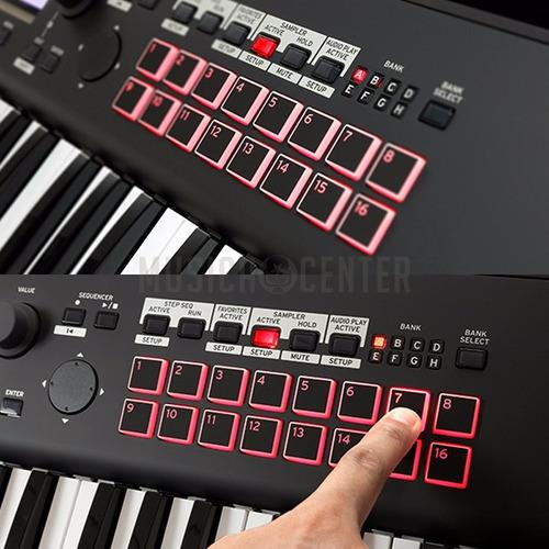 teclado korg kross 2 61 teclas workstation com fonte