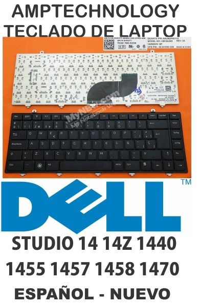 teclado laptop del studio 14 14z 1440 1455 1457 1458 1470 es
