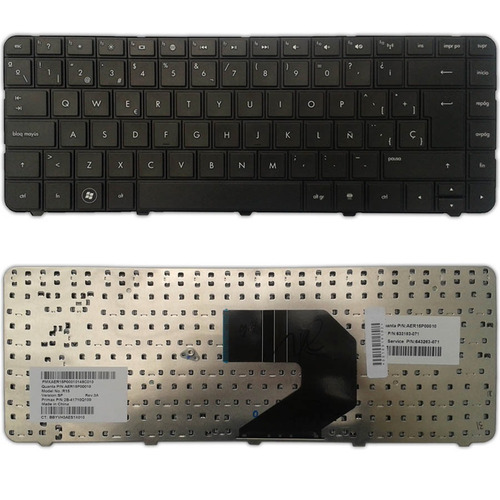 teclado laptop hp series g4-1000 g6 cq43 cq57 hp1000 hp2000