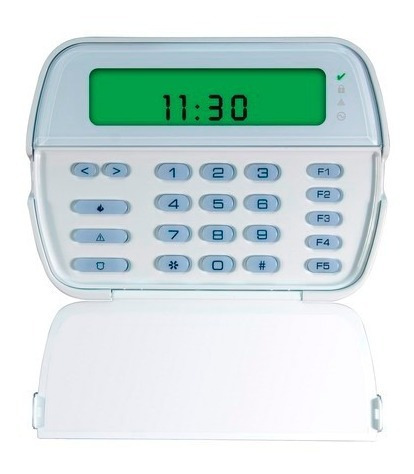 teclado lcd pk5501 para alarmas dsc powerseries 64 zonas
