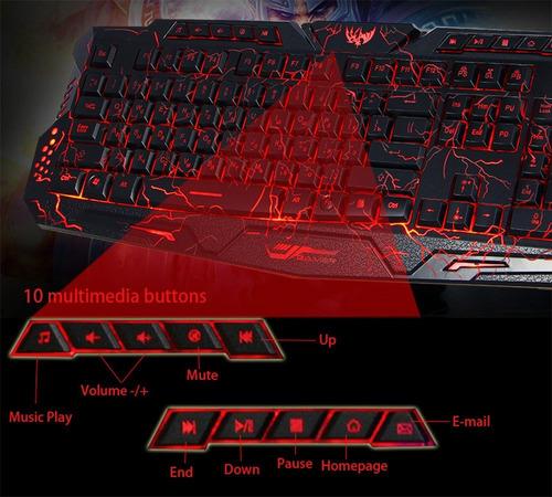 teclado led para juegos (por encargue)