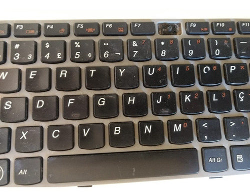 teclado lenovo ideapad z450/z460 p/n 25-010871 com defeito