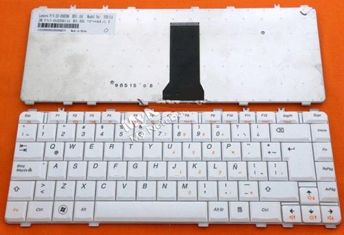 teclado lenovo y450 y460 y550 y650 n3s blanco español  hm4