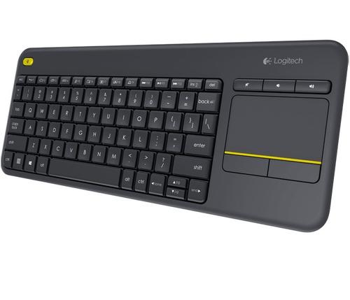 teclado logitech inalambrico k400+  en español, macrotec