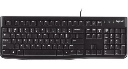 teclado logitech k120 para pc usb antiderrames original