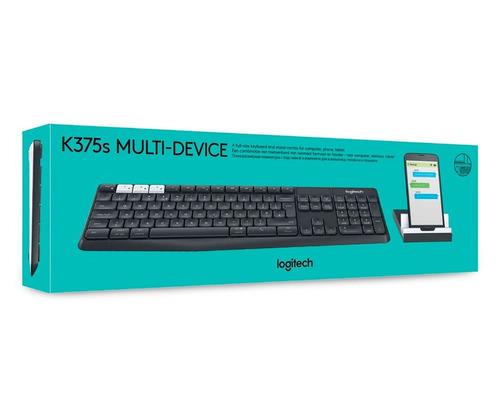teclado logitech k375s inalambrico multi-dispositivo usb blu