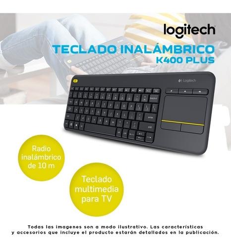 teclado logitech k400 plus smart tv wireless touch keyboard