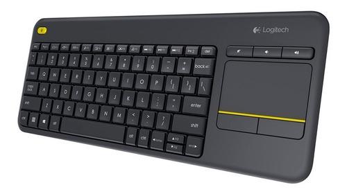 teclado logitech k400 plus smart tv wireless touch pce