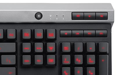 teclado marca corsair - gamer raptor k30 español iluminado