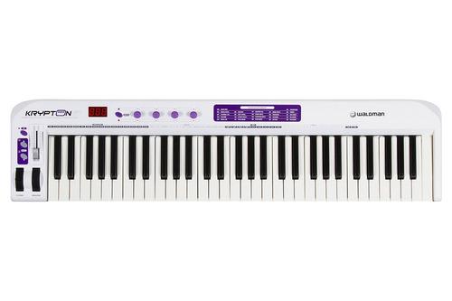 teclado master controlador usb/midi waldman krypton61 teclas