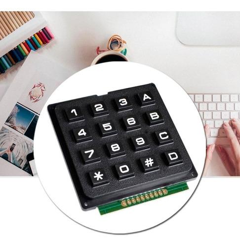 teclado matricial 4x4 16  teclas arduino avr eletrônica