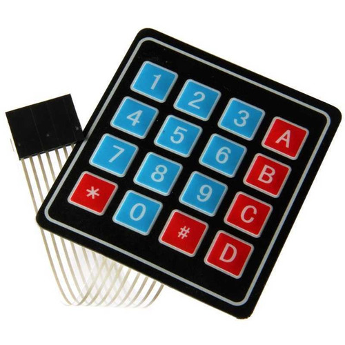 teclado matricial 4x4 tipo membrana