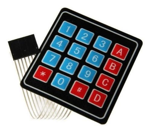 teclado matricial de membrana 4x4  y 3x4 edutronika