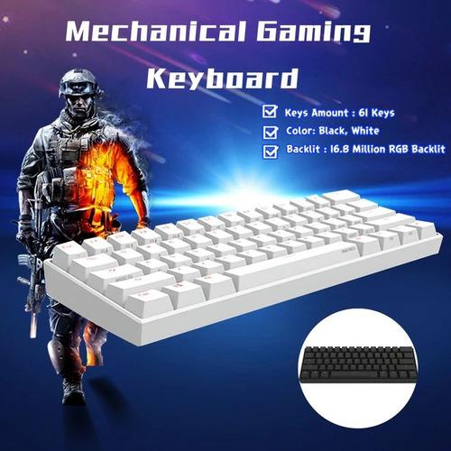 teclado mecanico anne pro 2 rgb, gateron brown profesional