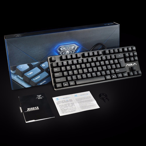 teclado mecanico gamer aula promisor español switch brown