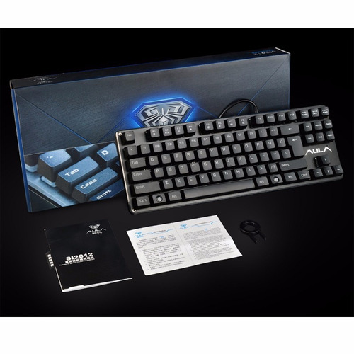 teclado mecanico gamer aula promisor  switch brown español