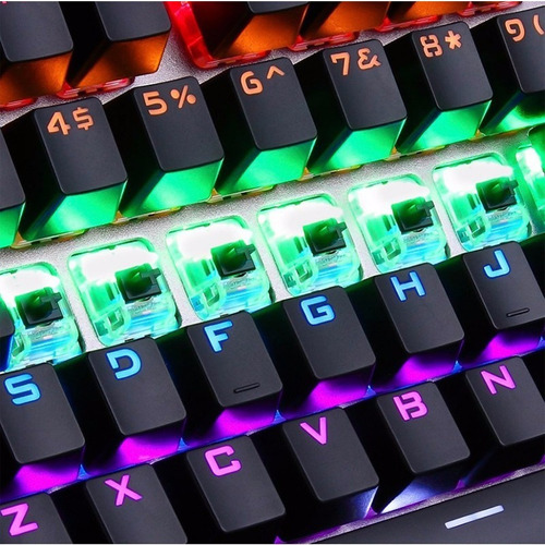 teclado mecanico gamer aula reaper led switch brown español