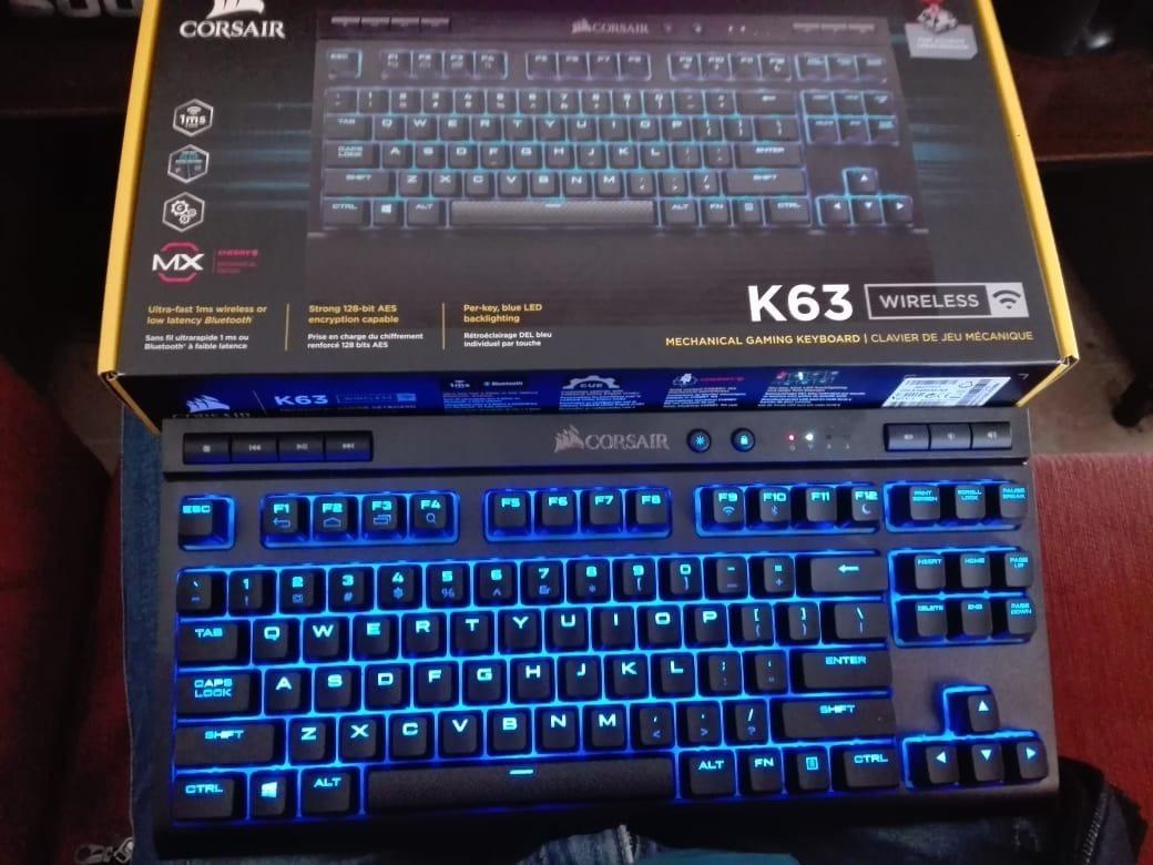 Teclado Mecanico Gamer Inalambrico Corsair K63 Rgb U S 99 00 En Mercado Libre