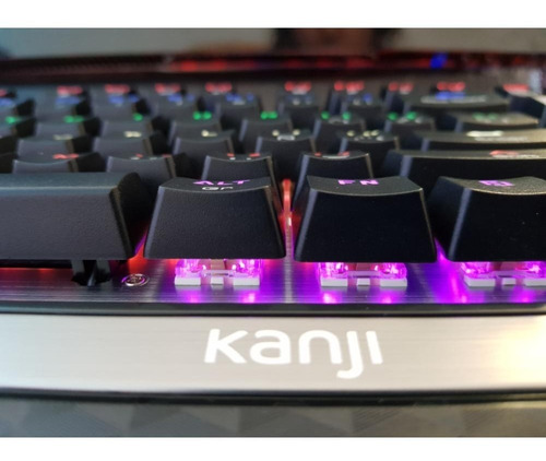 teclado mecánico gamer kanji addict negro