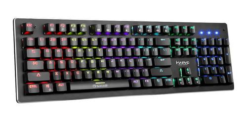 teclado mecanico gamer marvo kg909 led rainbow switch azul