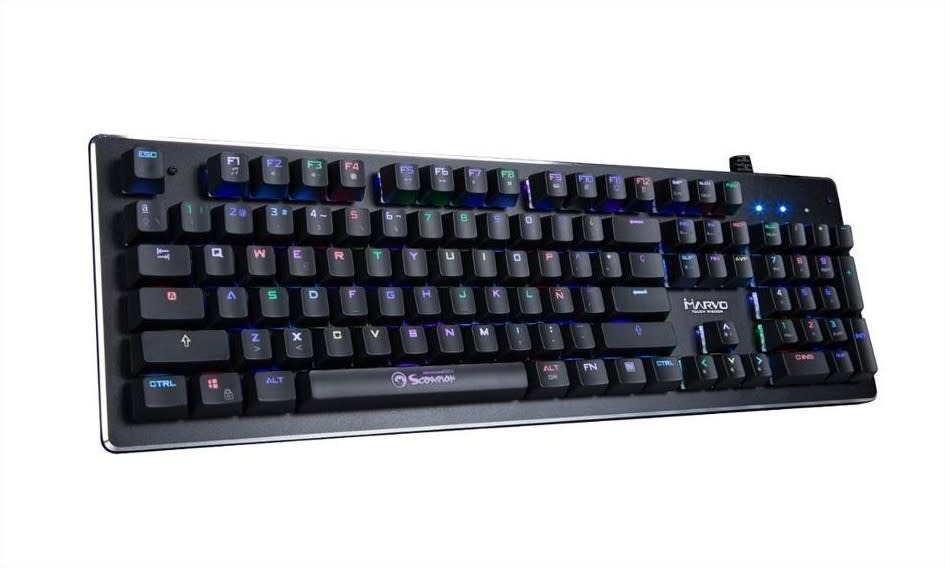 1ec042ad0ba Teclado Mecánico Gamer Marvo Kg935 Rgb Switch Blue Usb - $ 2.899,00 ...