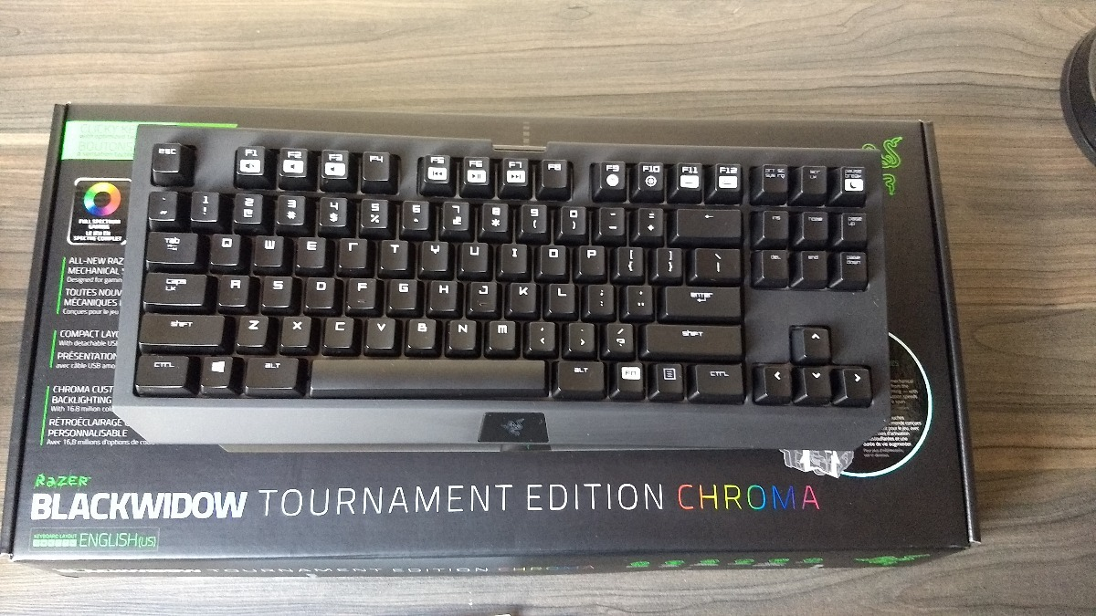 Teclado Mecanico Gamer Razer Blackwidow Te Chroma Tkl Rgb R 589 Tournament Edition Carregando Zoom