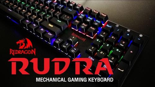 teclado mecanico gamer redragon rudra