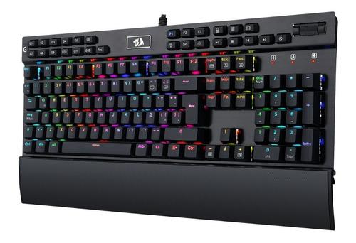 teclado mecánico gamer redragon yama rgb k550 - español