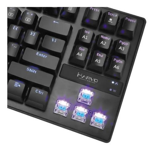 teclado mecanico gamer retroiluminado rainbow español red
