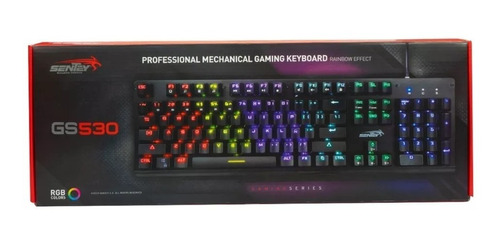 teclado mecanico gamer sentey rainbow switch outemu red