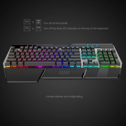 teclado mecanico havit rgb economico
