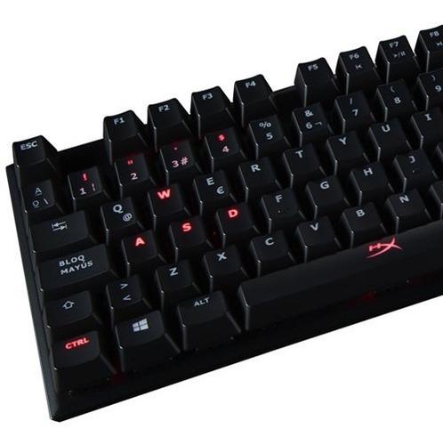 teclado mecánico hyper x alloy fps kingston cherry mx red