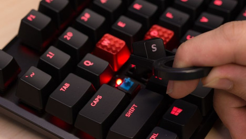 teclado mecanico hyperx alloy fps cherry mx blue brown red