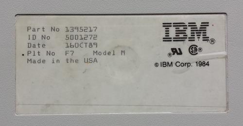 teclado mecanico ibm model m ssk con cable usb año 1989