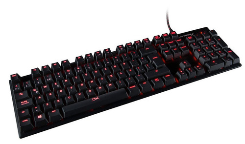 teclado mecánico kingston hyperx alloy fps cherry red