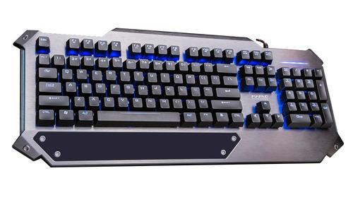 teclado mecánico marvo k945, switches kailh brown, metálico