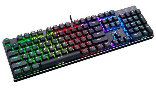 teclado mecanico redragon devarajas k556 rgb mec fullh4rd