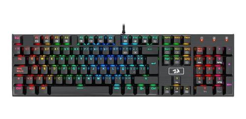 teclado mecanico redragon k556-sp devarajas rgb switch brown