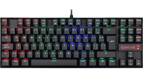 teclado mecanico redragon kumara k552 led rgb español
