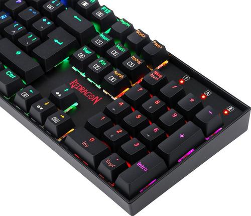 teclado mecanico redragon vara k551 rgb led rgb español