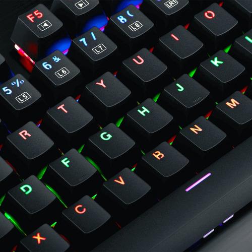 teclado mecanico redragon visnu rainbow k561r español