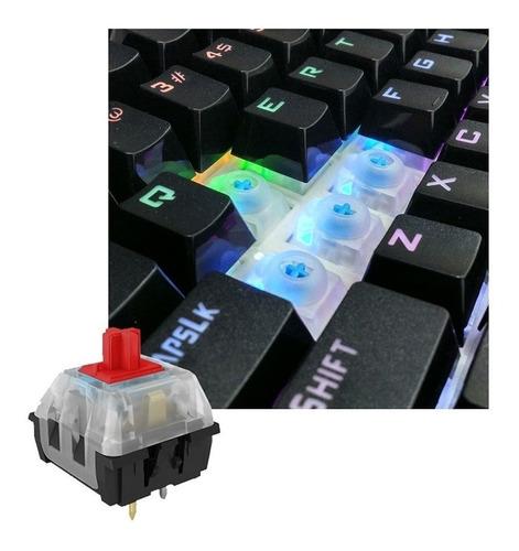 teclado mecanico y mouse hp gm200 gamer rgb / lhua store